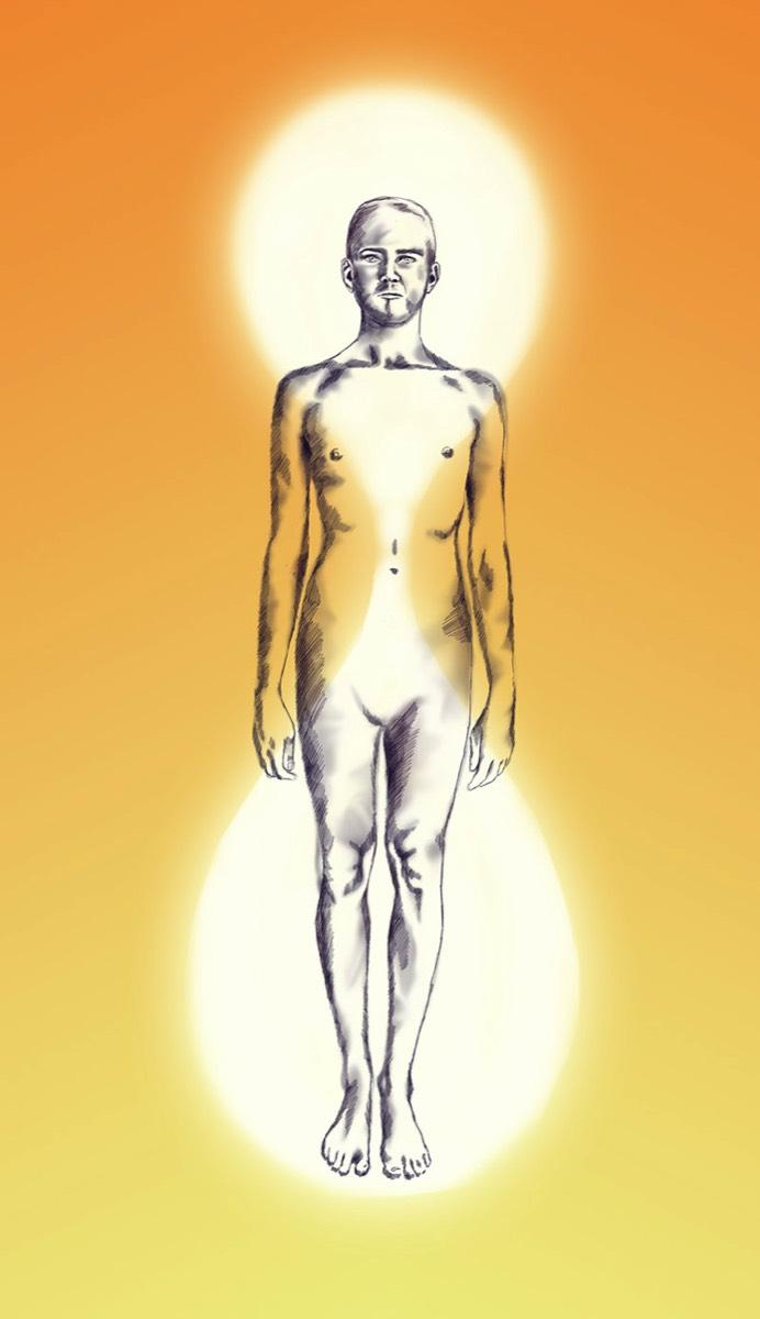 Aura pri spojení s astrálnou bytosťou 2